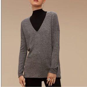 Aritzia Babaton Erin Sweater Wool & Linen in Grey